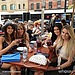 Nina Dobrev spent time with her ladies. Is that sangria?