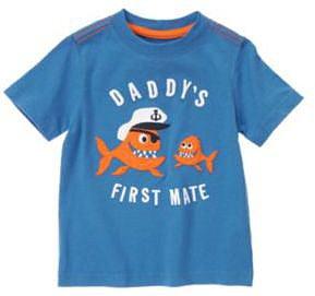 Daddys First Mate Piranha Captain Tee