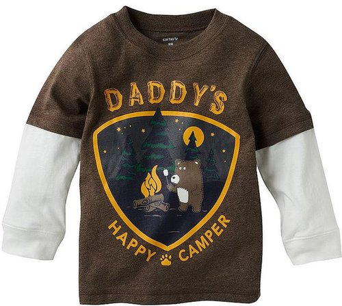 Carter's mock-layer daddy's happy camper tee - baby