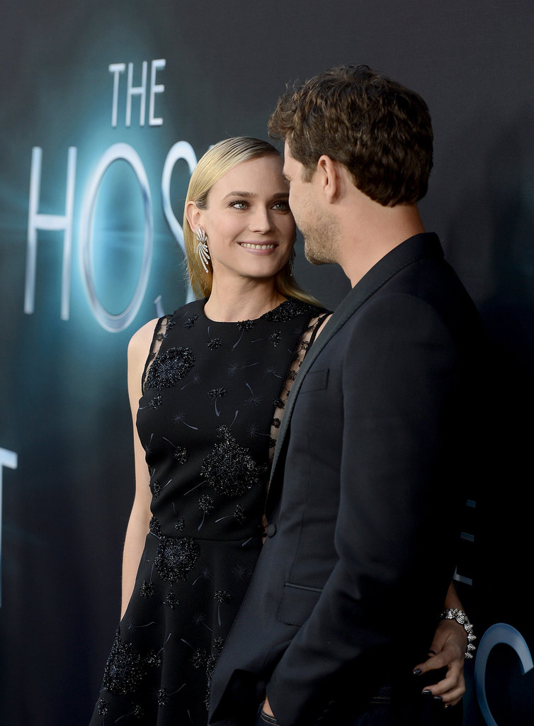 Diane Kruger held onto Joshua Jackson at the premiere of her movie The Host in LA in March 2013.