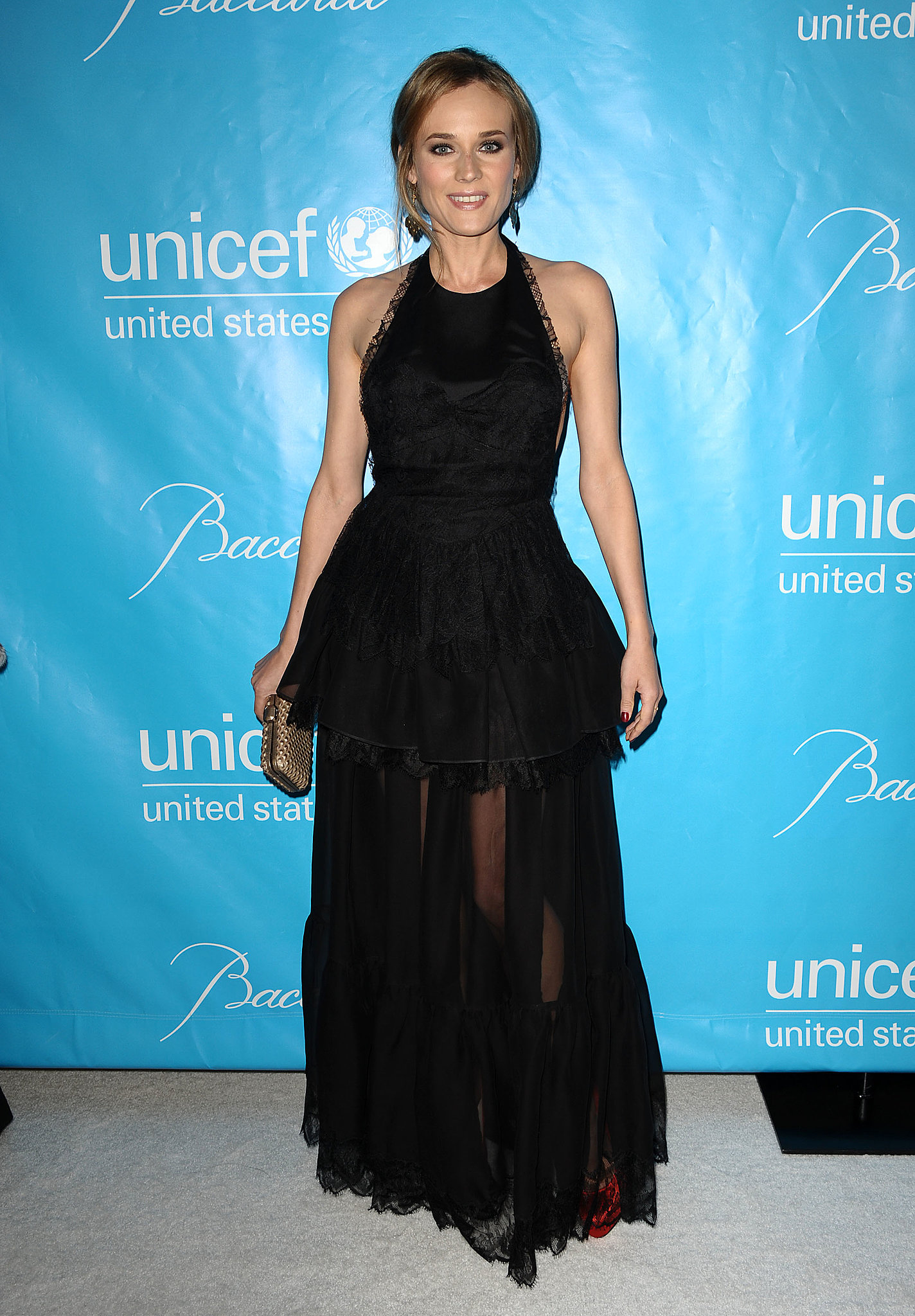 She wore a skin-baring gown by Emilio Pucci to the 2011 UNICEF Ball.