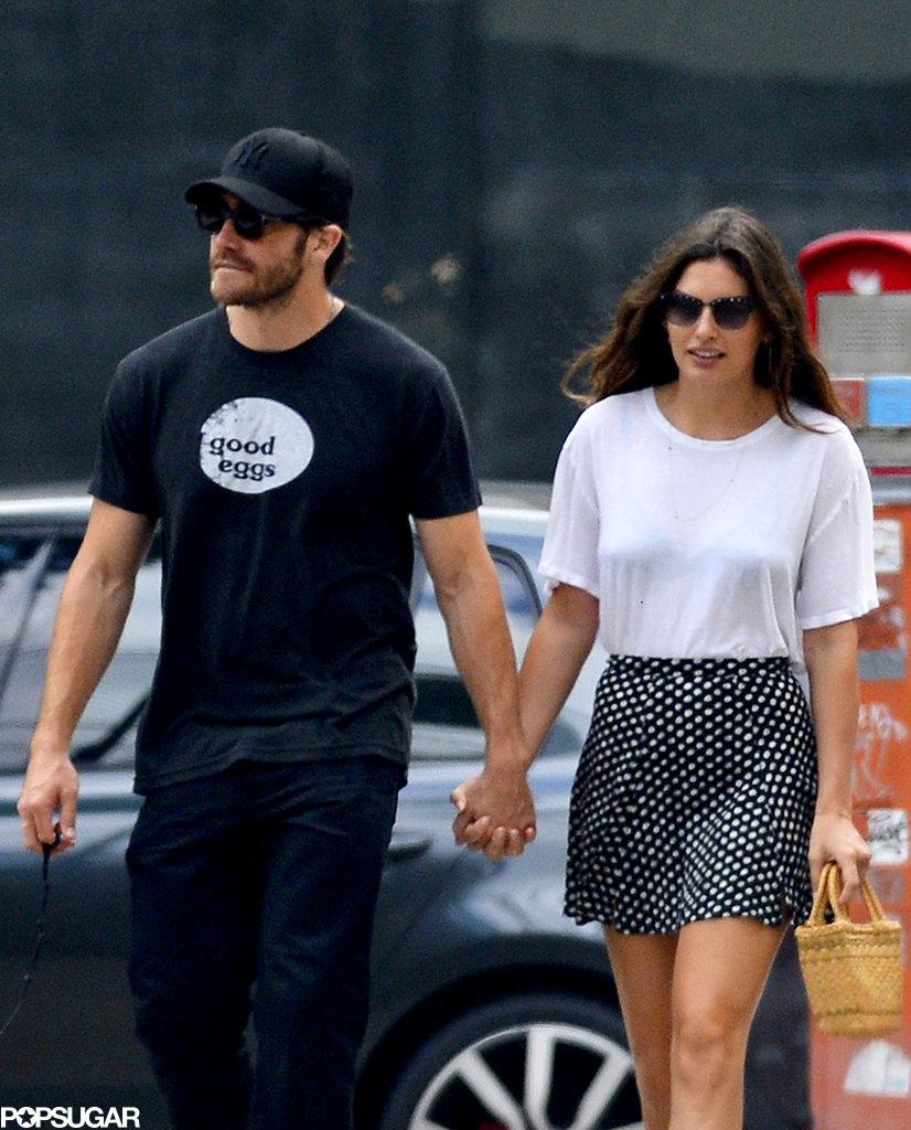 Alyssa Miller wore a Reformation skirt while holding hands with boyfriend Jake Gyllenhaal.
