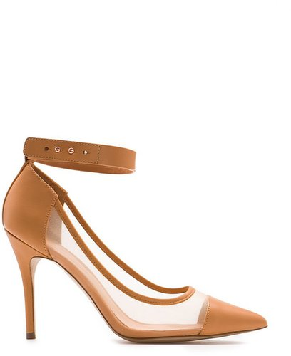 Touch - Mesh Leather Stiletto Shoes