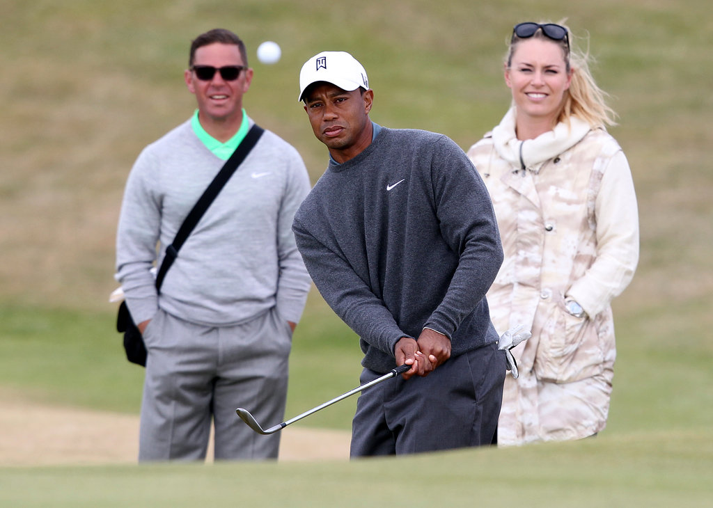 Tiger Woods Tees Up With Lindsey Vonn