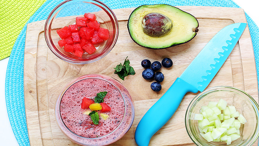 Watermelon-Blueberry Gazpacho