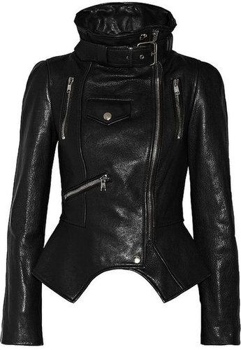Alexander McQueen Textured-leather biker jacket