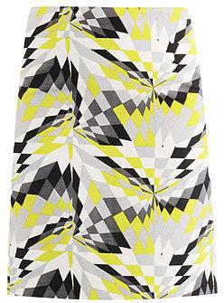 Tibi Isosceles print pencil skirt