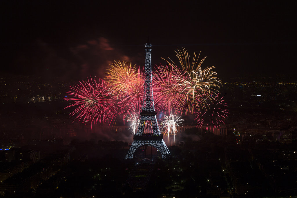 A gorgeous fireworks display filled the sky in Paris.
