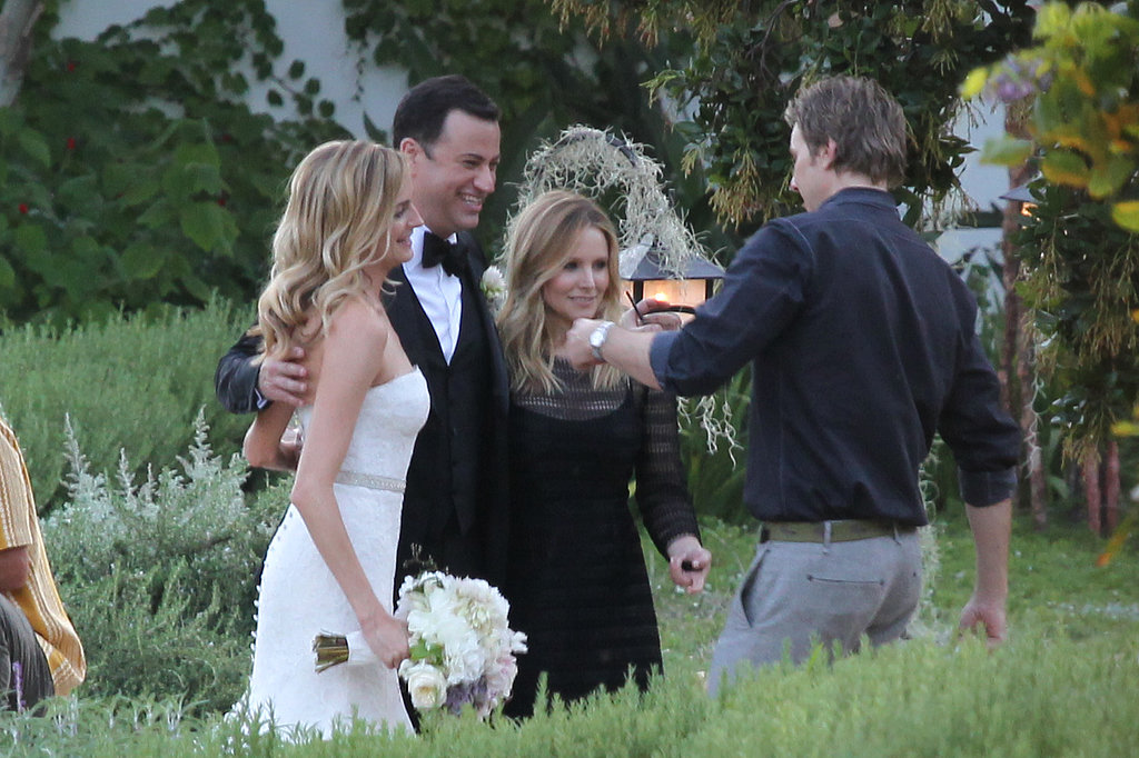 Dax Shepard took a photo of Kristen Bell with the newlyweds.