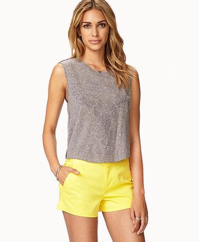 FOREVER 21 Essential Slant Pocket Chino Shorts