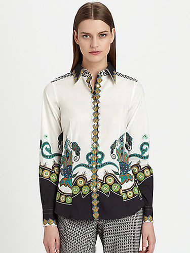 Etro Printed Stretch Cotton Shirt
