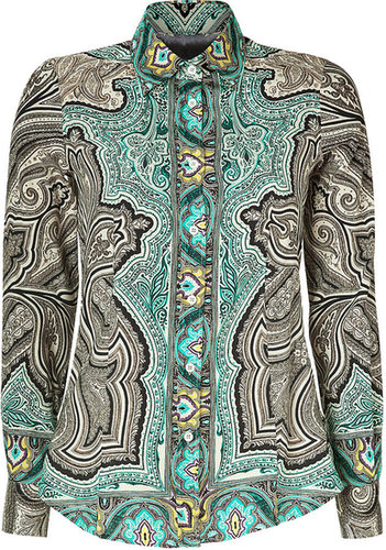 Etro Multicolored Paisley Print Silk-Blend Blouse