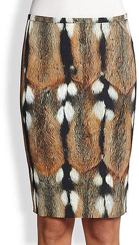 Roberto Cavalli Animal Print Pencil Skirt
