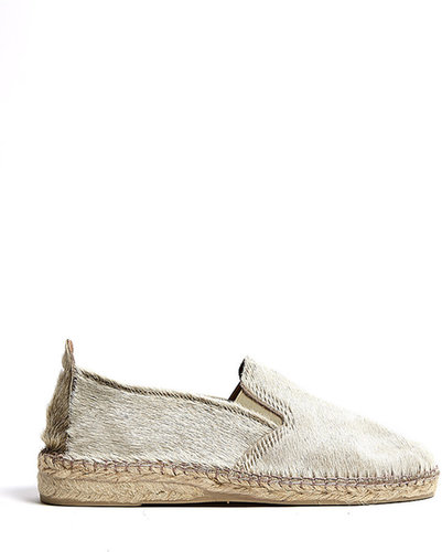 Prism Natural Leather Beige Pony Hair Espadrilles