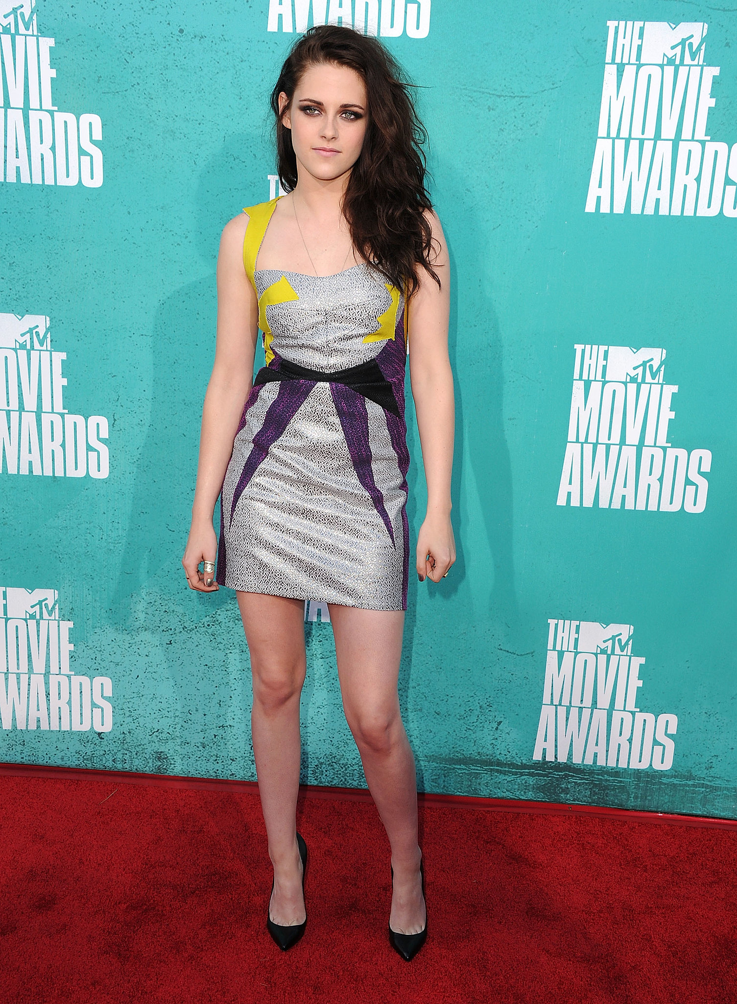 Stewart went for a formfitting, colorful Guishem mini at the MTV Movie Awards in June 2012.