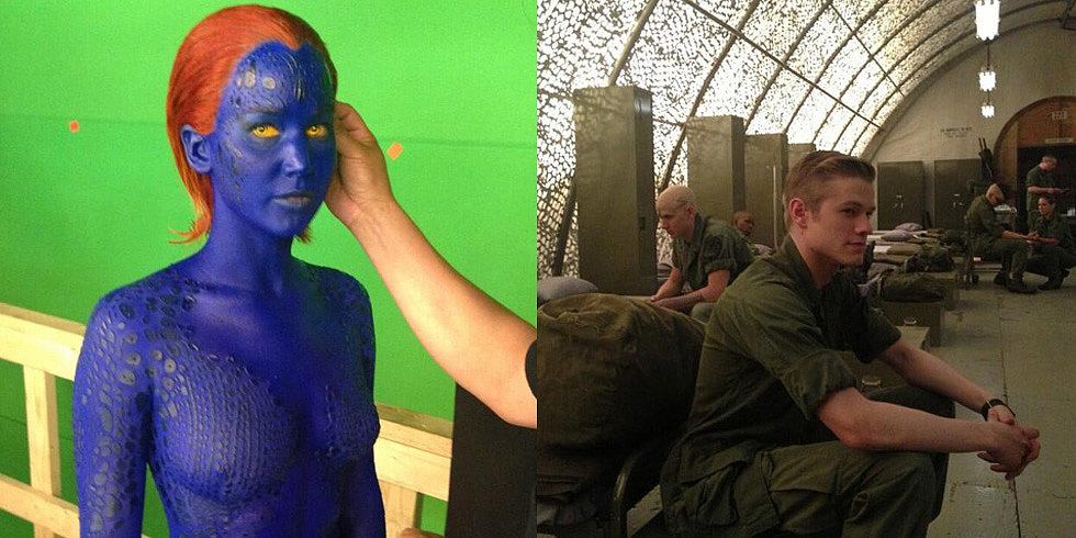 See Lucas Till, Jennifer Lawrence, and More Behind-the-Scenes Shots of X-Men: Days of Future Past