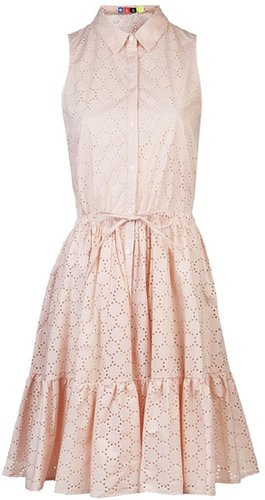 Msgm Perforated pleated dress