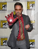 Robert Downey Jr. was in full Iron Man mode for the film's panel discussion in 2012.