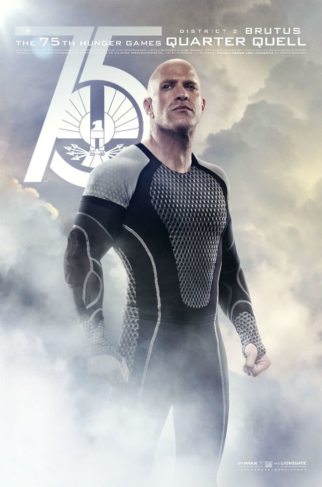 Bruno Gunn plays Brutus, another Hunger Games victor.