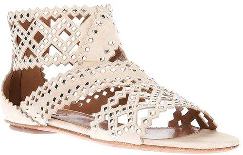 Alaïa stud cut-out sandal