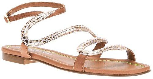 Visconti Et Du Reau snake sandal