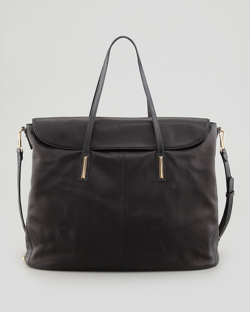 With plenty of room to tote day-to-day essentials, this leather satchel ($625) is a perfect option for work.