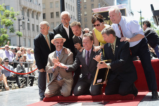Bryan Cranston posed with a group of friends and colleagues as he received his star on the Hollywood Walk of Fame.