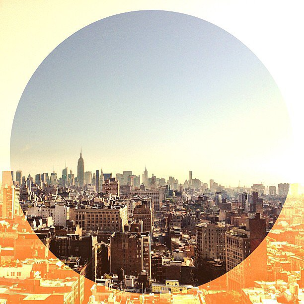 "Coco Rocha got an incredible view of the New York skyline from her ""office for the day."" Source: Instagram user cocorocha"