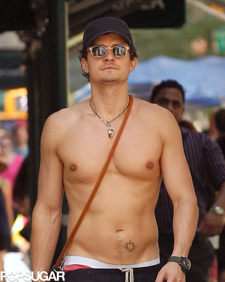 Orlando Bloom Goes Shirtless in NYC Just Because He Can