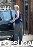 Jane Lynch returned to her car.