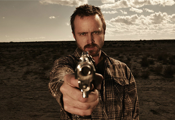 Aaron Paul as Jesse Pinkman.
