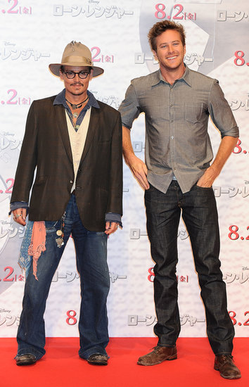 Johnny Depp and Armie Hammer attended a photocall for their film.