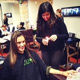 Alessandra Ambrosio got a fiery Brazilian hair treatment. Source: Instagram user alessandraambrosio