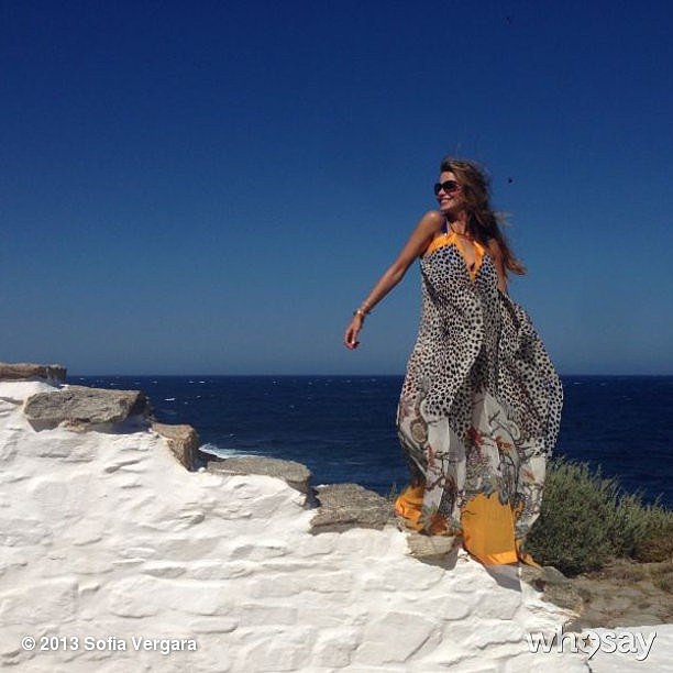 Sofia Vergara shared a gorgeous scenery shot during her vacation in Mykonos. Source: Sofia Vergara on WhoSay