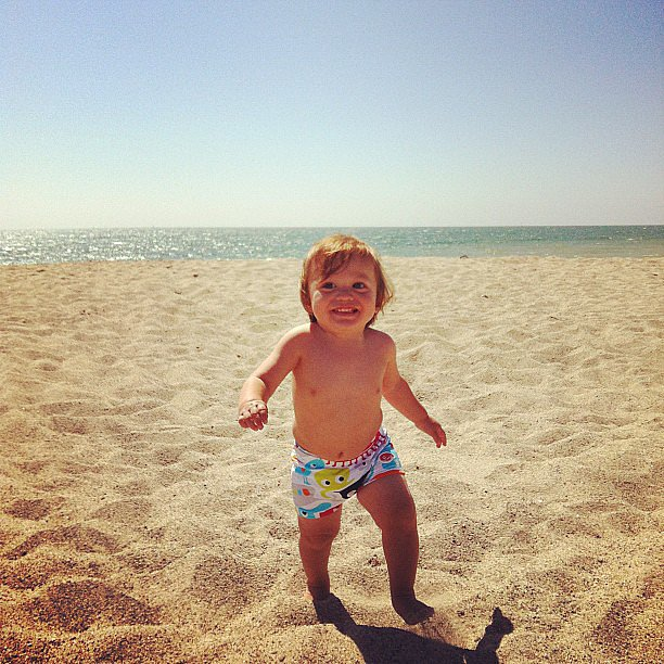 A little lone ranger, and he's as happy as can be! Source: Instagram user estella_max_leos_mommy