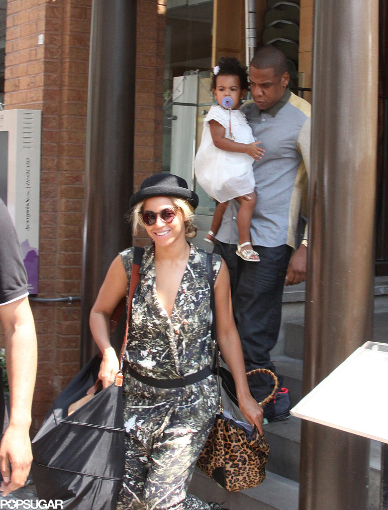 Beyoncé was all smiles when she stepped out with Blue Ivy Carter and Jay Z for lunch in Toronto in July 2013.
