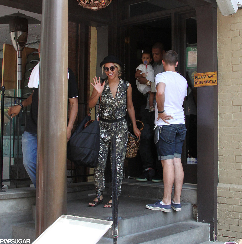Beyoncé and Jay-Z grabbed lunch with Blue Ivy Carter.