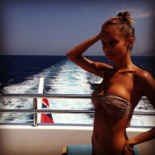 Nicole Richie showed off her toned bikini body. Source: Instagram user nicolerichie