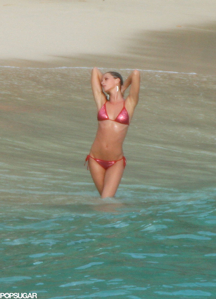 She posed for cameras in a pink bikini for a Victoria's Secret shoot in St. Barth back in December 2006.