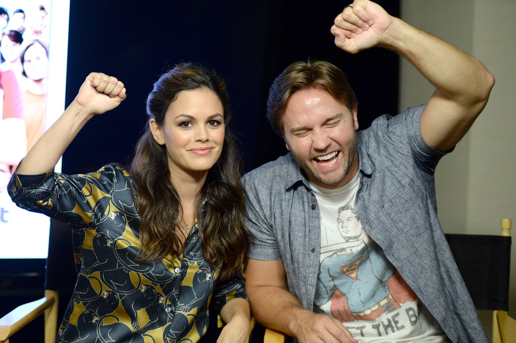 Rachel Bilson posed with Scott Porter on Thursday.