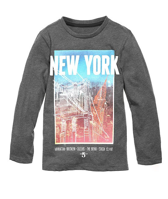 There's nothing worse than a bad graphic-print shirt for a little boy . . . and nothing cuter than a good one. This NYC-themed long-sleeved top nails it!