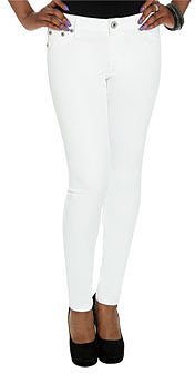 WetSeal Pull On Color Jegging White