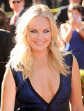 Mussed waves were the highlight of Malin Akerman's look last night, which she paired with a touch of frosted eye shadow.