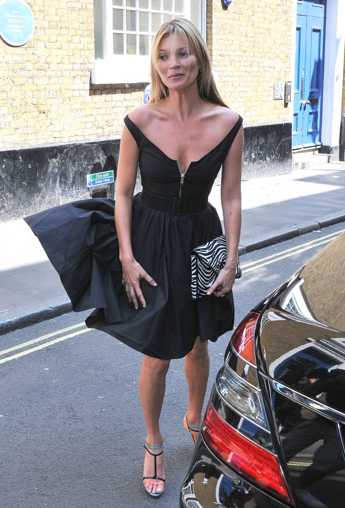 Kate Moss Laughs Off Her Marilyn Moment in London