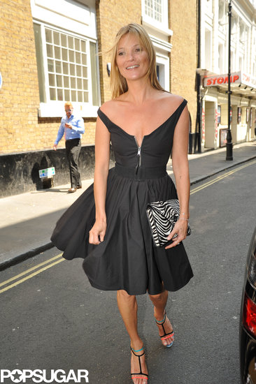 Kate Moss made her way to lunch at The Ivy in London.
