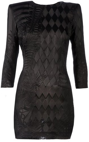 Balmain embroidered bodycon dress