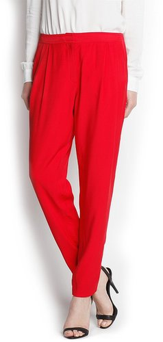Tapered pleated trousers