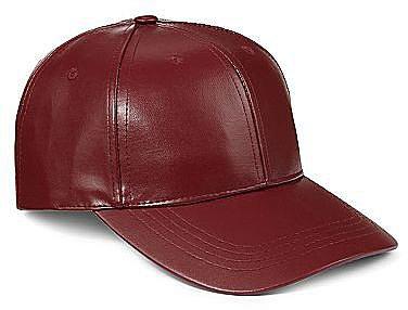 Faux Leather Baseball Cap