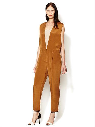 Silk V-Neck Jumpsuit