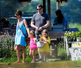 Sarah Jessica Parker, Matthew Broderick, and their twins stopped at a produce stand in the Hamptons while vacationing there in July. Source: Nitro News